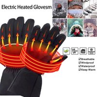 Ski Gloves Winter Warm Rechargeable Electric Battery Heated For Motorcycle Outdoor Thermal