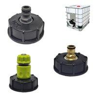 Gartenwasserkugelhahn für den IBC-Container S60x6-Adapter-Anlage Tap-Kappe mit männlichen Gewindeschlauchverbindung Bewässerungsgeräte