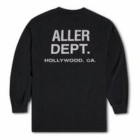 2021 USA Hollywood Souvenir Vintage T Shirts Skateboard Manga larga Hombres Mujer Street Casual Tshirt V6QM #