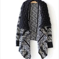 Women's Jackets 2021 Spring And Winter European Style Shawl Collar Cardigan Sweater Loose Long-sleeved Female Outwear Coat Sw412