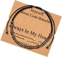 Handmade Morse Code Bracelets In My Heart Lover Friendship Bracelet For Women Men BFF Charm Chain Jewelry Promise Gifts C3