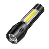Flashlights Torches Portable LED COB Light Rechargeable Zoom 3 Mode Waterproof Emergency Torch For Camping Hiking Outdoor