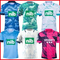 Mens 20-21 Super Rugby Jersey Zealand Blues Hurricanes Crusaders Highlanders Chefess Futebol camisetas Top Quality