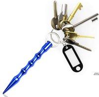 Aluminium Selbstverteidigungswaffen Sicherheit für Frauen Mädchen Spike Stick Keychain Schlüsselanhänger Metall Großhandel EWD5851