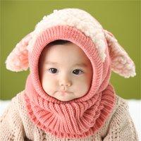 Höst vinter baby cap blandning multicolor söt hund öra design toddler kepsar förtjockning anti kall vistelse varm spädbarn hatt 12hx l2