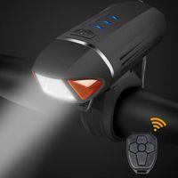 Велосипедный светильник передний поворот сигнал сигнала черный USB перезаряжаемый светодиодный велосипед дистанционного управления фар велосипедных аксессуаров