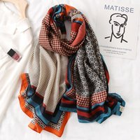 Scarves Main Imports: Fashion Printed Cotton Scarf Women's Headscarf Square Pattern Design Spring Winter 2021