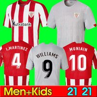 2020 2021 Bilbao Soccer Jersey Man Kit Kit Atlético I.Martinez Williams Fútbol Jersey Yuri B Raul García MuniAin Camiseta de Bilbao 20/21