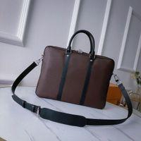 M52005 PORTE-DOCUMENTS VOYAGE PM briefcases genuine leather small briefcase men shoulder handbag luxury designer laptop computer totes business cross body bags