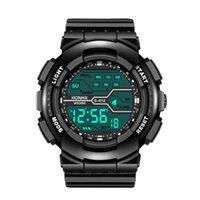 Classic Style Mens orologi quadrante creativo maschile da uomo LED cronometro digitale gomma orologio da polso in gomma cinturino solido relogio orologio orologi da polso