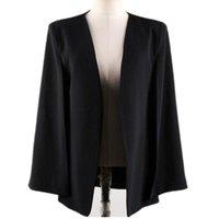 Jet de manteau de base de la manteau femelle cardigan Vêtements d'extérieur à manches longues Cape Cape Casual OL Blazer costume Femme Costumes Blazers