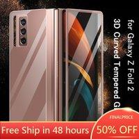Temperli Cam 3D Kavisli Samsung Galaxy Z Katlama 2 Tam Kapsama Galaxy Z Fold2 Ekran Koruyucu Geri Temperli Cam Kapak
