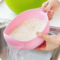 Reiswaschfilter-Siebkorb-Sieb-Obst-Frucht-Gemüse-Schüssel Abtropfer Reinigungswerkzeuge Home Kitchen Kit DHD5779