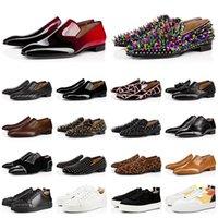 DiseñadoresLouboutinClcristianoLujos con fondos rojos para hombre zapatos de vestir para hombre 2021 nuevos mocasines de llegada espigas de cuero S XXP
