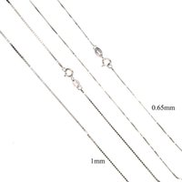 Color 100% 925 Sterling 0.65mm 1mm Thick Box Chain Top Quality Basic Necklace Wholesale Factory Chokers