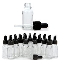 10ml Glass Bottles E Liquid Essential Oil Refillable Empty Clear Bottle with Glass Dropper Black Cap