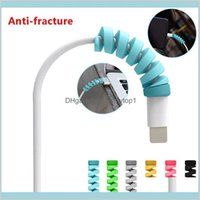 Colorful Spiral Data Cable Protector Applicable To Mobile Phone Original Charging Cable Anti-Fracture Protective Cover Saver Pzgml Yhlfm