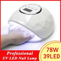 Professional 78W Nail Lamp Dryer UV LED For Manicure Machine Gel Curing Drying s Polish Art Tools 210622