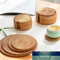 Новые Classic Placemat Pad Abisters Кухонный стол Маты Rattan Coaster Bowl Pudding Mat Изоляционная прокладка Круглые метки