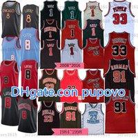 الرجال الرجعيةالكلاسيكية 23 MJ جيرسيZach 8 Lavine Pappen Jerseys 91 DennisRodman كرة السلة الفانيلة 2020/21 نيوزز نيوزيس أحمر أبيض شباب S-3XL