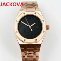 Top Quality 42mm 15500ST Watch Mens Rose Gold Black Dial Sapphire Glass 904L Steel Bracelet Factory Mechanical Movement Automatic Watches
