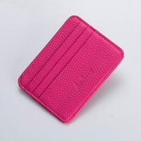 Card Holders Men Women Slim Lichee Leather Holder Multi Slot Business Id Brand Bank Case Wallet For Cardholder