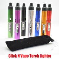 Klicken Sie auf N-Vape-Fackel-Feuerzeug Tragbare Sneakaa-Toke-Raucher-Metallrohre Trockenkräuter-Verdampfer-Tabak-Tabak-integrierte winddichte Rohrleiter