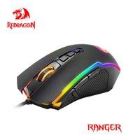 Redragon Ranger M910 RGB USB Oyun Fare Kablolu 12400 DPI Masaüstü Bilgisayar için 10 Düğmeler Ergonomik Programlanabilir Fareler PC Gamer