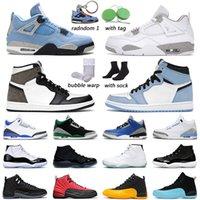 Air Jordan 1 Basketball Shoes hombres mujeres University Blue jordans 4s White Oreo Black Cat 13s Red Flint outdoor mens trainer