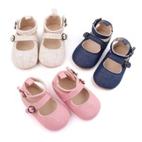 First Walkers Solid Color Cottom Baby Girls Princess Shoes Fashion Shallow Infant Crib Pricess Flats Single Pink Blue Beige