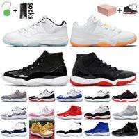 Stock x Nike Air Jordan 11 Retro 11s Auf Hoch Bred 25. Jahrestag Cool Gray 2020 Jumpman 11 11s Frauen Herren-Basketball-Schuhe Turnschuhe Turnschuhe