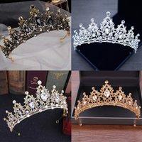 Wedding Crown Crystal Tiaras For Women Bridal Diadem Hair Accessories Headband Headpieces Head Jewelry