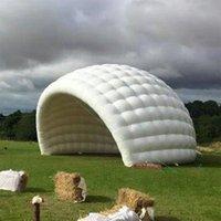 Estágio personalizado Marquee inflável Meia Luna Domo Dome Igloo Barrantia Mostra de Promoção de Casa Com Forma de Inufferência Contínua