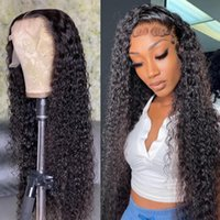 Lace Wigs HD Transparent 250 Density Wigirl Front Human Hair Wig 30 40 Inch Deep Wave Curly Brazilian Frontal For Black Women