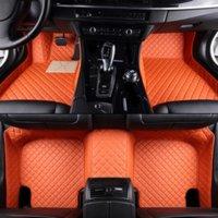 Tapis de plancher de voiture en cuir pour Alfa Romeo Giulia Patanes de pied sur mesure Accessoires d'automobile