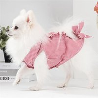 Dog Apparel Imixlot Design Pet Shirt Striped Lace Pleated Thin Section Sleeveless Breathable Summer Leisure Clothing