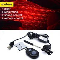 Interior&External Lights Car Atmosphere Ambient Star Light DJ Colorful Music Sound Lamp Remote Control Spotlight Voice LED USB Plug