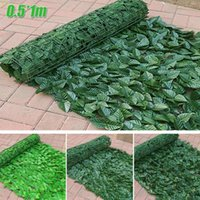Decorative Flowers & Wreaths 0.5*1M Artificial Hedge Ivy Leaf Garden Fence Roll Privacy Screening House Decor CN(Origin) Beautify Outside Sh