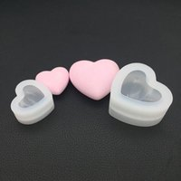 Baking Moulds Two Sizes Love Heart Silicone Mold 3D Aroma Gypsum Plaster Mould For Car Decoration DIY Candle Resin Molds
