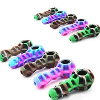 glass smoking water pipe Colorful Newest Portable silicone for Unbreakable spoon hand Pipes with bowl and Wax dabber tool dab rig