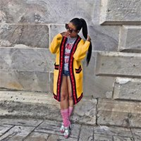 Женские свитеры кардиган мода Trend свободно повседневный с длинным рукавом пуловер топы дизайнер женские осенние жемчужина декоративная лента свитер