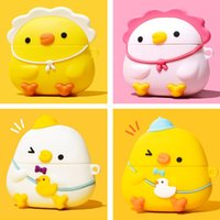 Cute Cartoon Lovely Click Lttle Chicken Silicone Case for Apple Airpods 1 2 3 Pro