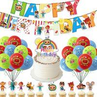 COCOMELON 12InCH Dibujos animados Bebé Familia Forma Moda Precioso Día de los Niños Brithday Fiesta Decoración Hogar Ornamento Juguetes GG31804