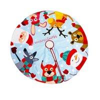 Christmas Decorations Est Arrival Tree Skirt Cute Santa Claus Reindeer Snowman Print Mats For Home Decoration