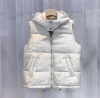Winter Herren Daunenweste Parkas mit Buchstaben Mode Designer Weste für Männer Frauen Paar Klassische Abzeichen Jacken Casual Westen Mantel 2 Arten