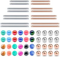 Nipple Rings Tongue Ring Industrial Body Replacement Bar and Balls for Straight Barbell Piercing Jewelry