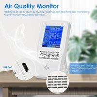 Monitor de qualidade do ar Preciso testador para CO2 Formaldeído TVOC PM2.5 / PM10 Pro Multifuncional Gas Detector Detector de Café Elétrica Elétrica