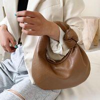 Duffel Bags Luxury Hand Cloud Purses And Handbag Soft Leather Clutches Women Dumpling Hobo Bag Vintage Shoulder Female Totes