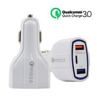 QC3.0 Dual USB Type C PD Car Charger 7A 3 in 1 Phone Fast Charge Adapte