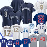 Chicago Javier Baez Wrigleyville Cubs 2021 Ciudad Conect Conect Baseball Jersey Kris Bryant Addison Russell Anthony Rizzo Joc Pederson Contreras Craig Kimbrel Jerseys Top